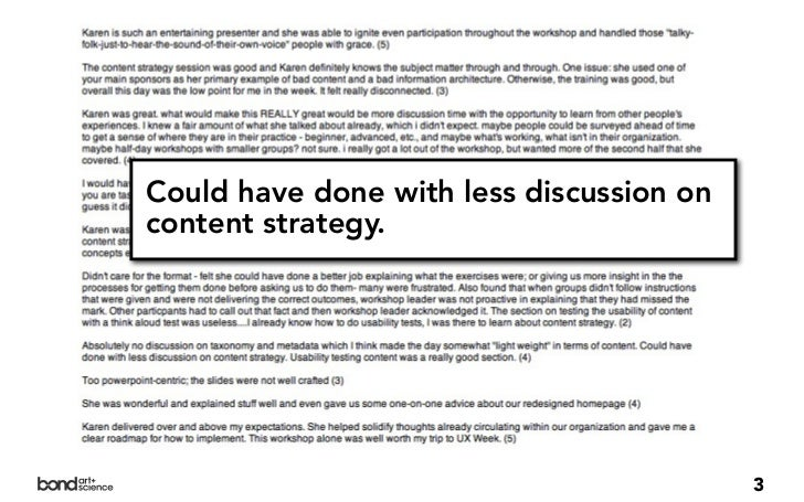Could have done with less discussion oncontent strategy.                                          3