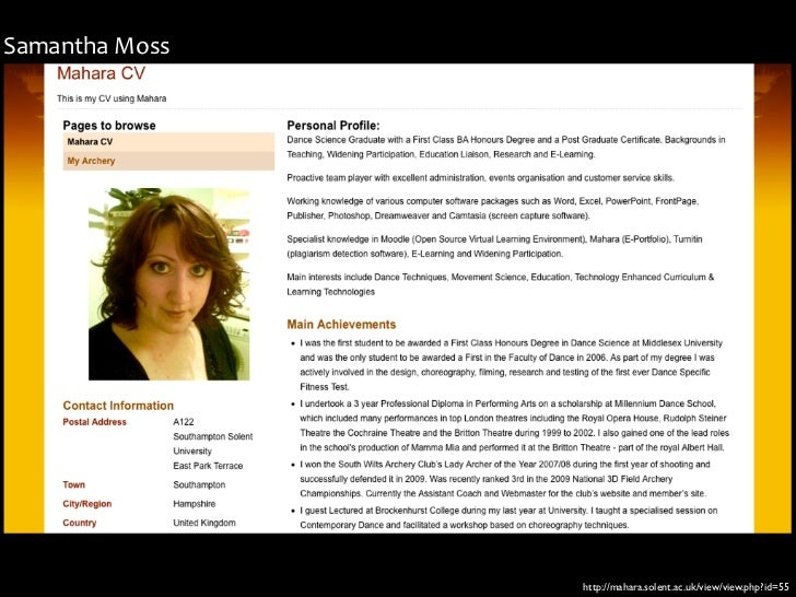Samantha Moss                   http://mahara.solent.ac.uk/view/view.php?id=55