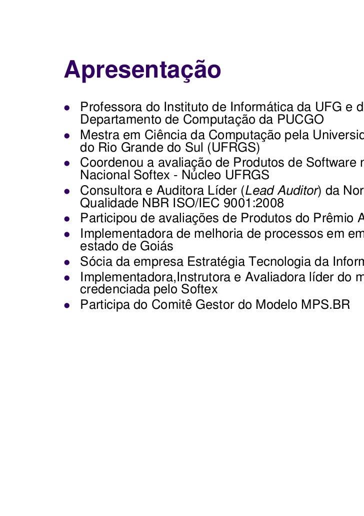 MPS.BR - Melhoria de Processo de Software Brasileiro Slide 2