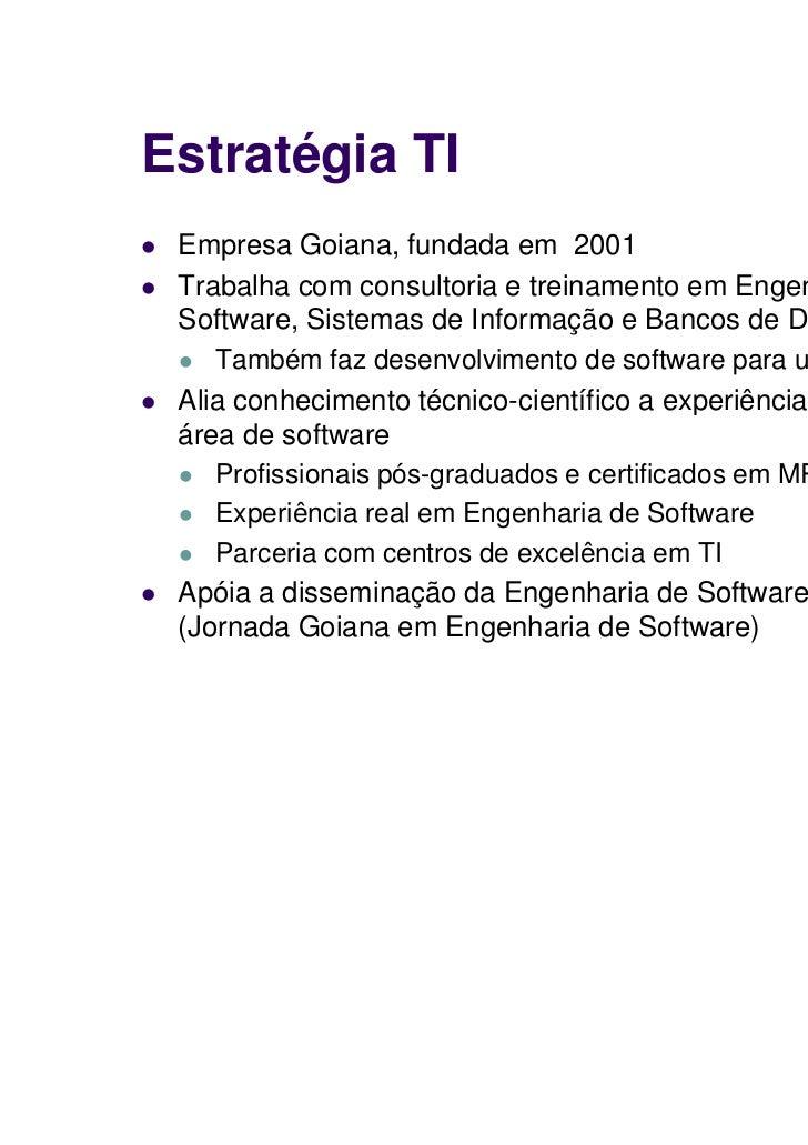 MPS.BR - Melhoria de Processo de Software Brasileiro Slide 3