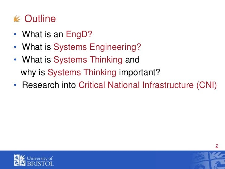 EngD in Systems  thinking  SlideShare
