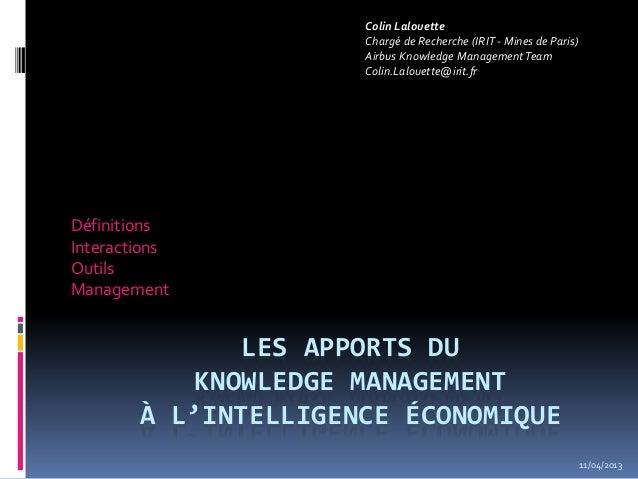 Colin Lalouette                      Chargé de Recherche (IRIT - Mines de Paris)                      Airbus Knowledge Man...