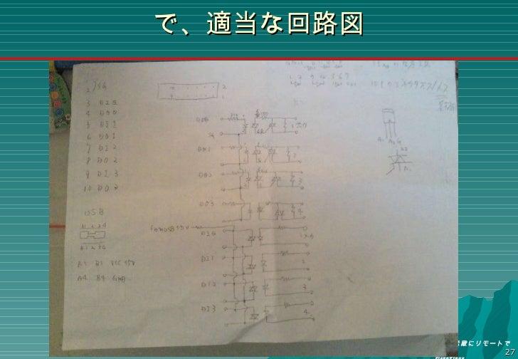で、適当な回路図