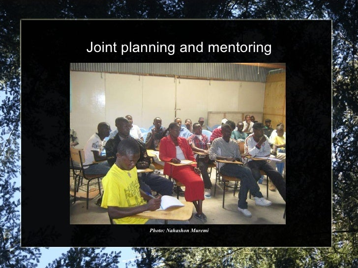 Joint planning and mentoring Photo: Nahashon Muremi