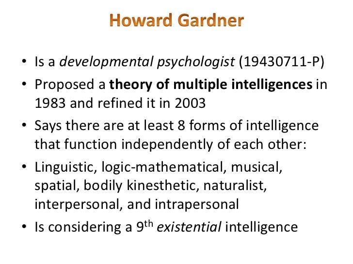 piaget vs. gardner on childhood intelligence essay Piaget, kohlberg, gilligan, and others on moral development  piaget observed four stages in the child's development of moral understanding of rules,.