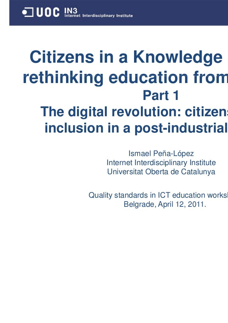 Citizens in a Knowledge S C                       Society:rethinking education from scratch.                          scra...