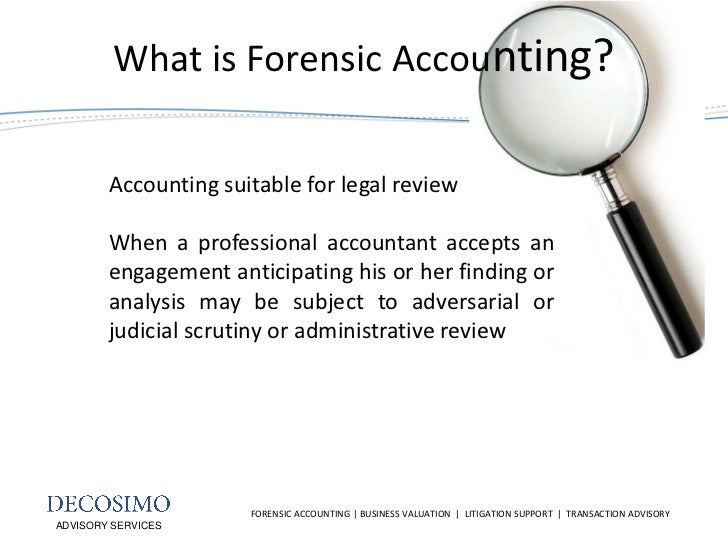 Role of the Forensic Accountant in Litigation
