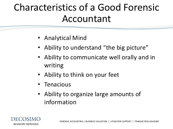 an essay on forensic accounting Report on forensic accounting and auditing p a g e accounting in india maurice e peloubet who coined the term forensic accountant in 1946 essay forensic accounting: its place in today's economy archaeological findings reveal that.