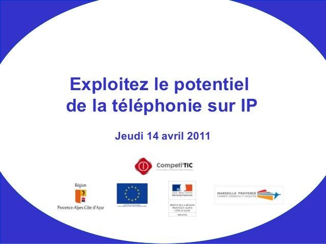 Jeudi 14 avril 2011 Exploitez le potentiel de la téléphonie sur IP