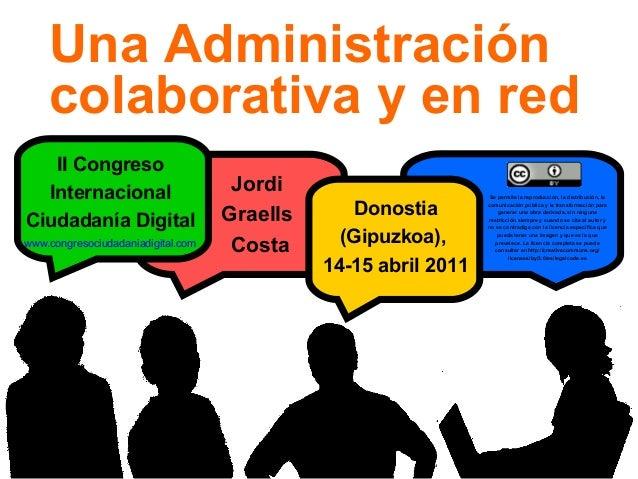 1 Donostia (Gipuzkoa), 14-15 abril 2011 II Congreso Internacional Ciudadanía Digital Jordi Graells Costa Se permite la rep...