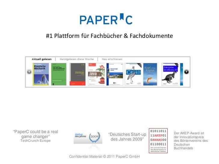 "#1 Plattform für Fachbücher & Fachdokumente""PaperC could be a real                                               Der AKEP-..."