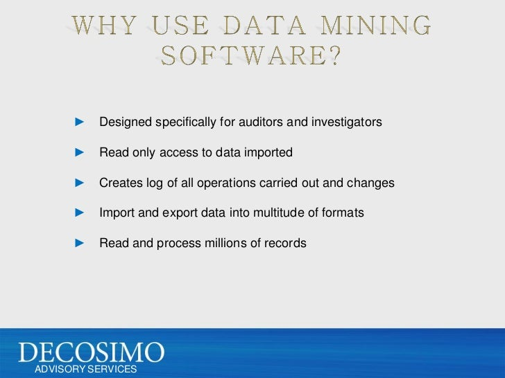 Use of data mining in fraud