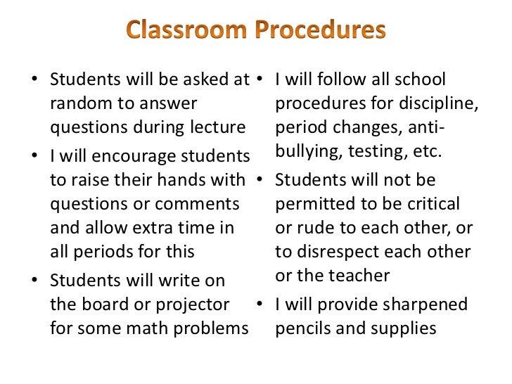 successful classroom management essay