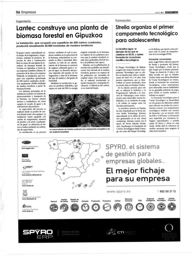 2011 05   Periódico gestión - camp tecnológico