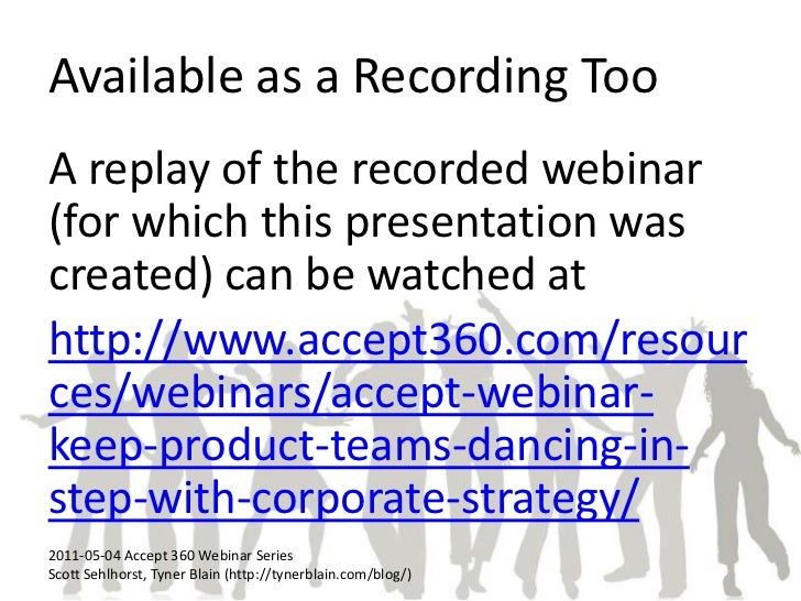 Available as a Recording Too<br />A replay of the recorded webinar (for which this presentation was created) can be watche...