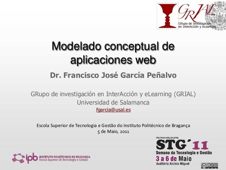 Modelado conceptual de aplicaciones web<br />Dr. Francisco José García Peñalvo<br />GRupo de investigación en InterAcción ...