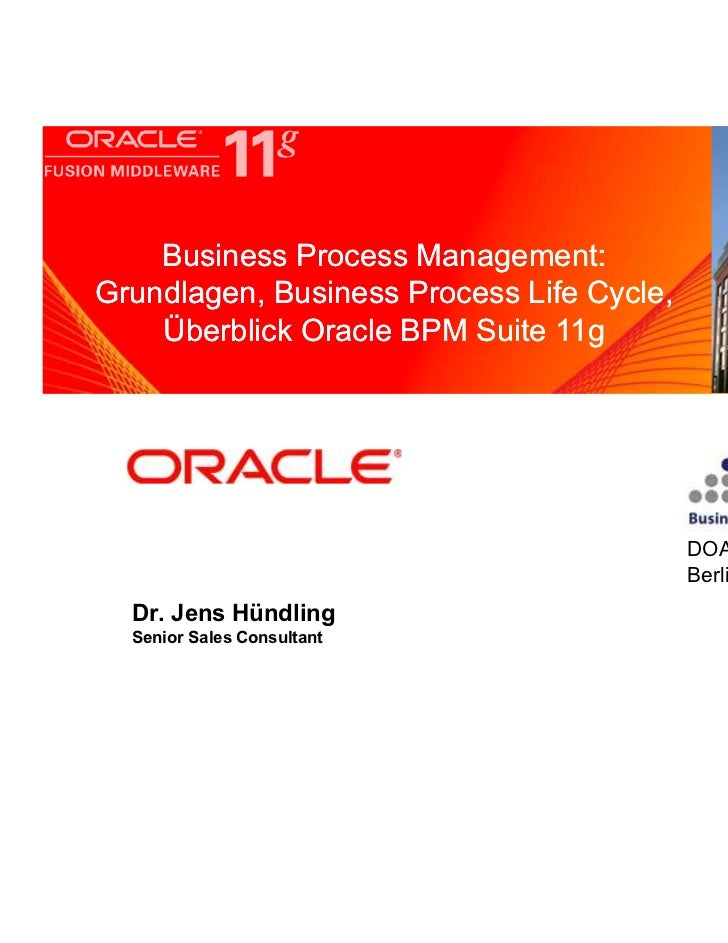 Business Process Management:     <Insert Picture Here>Grundlagen, Business Process Life Cycle,    Überblick Oracle BPM Sui...