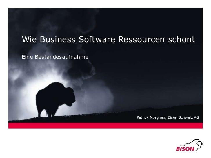 Bleiben Sie im Geschäft:<br />Willkommen an der CEBIT.<br />Wie Business Software Ressourcen schont<br />Eine Bestandesauf...