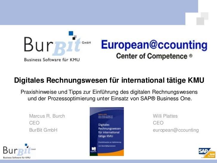 Digitales Rechnungswesen für international tätige KMU<br />Praxishinweise und Tipps zur Einführung des digitalen Rechnungs...