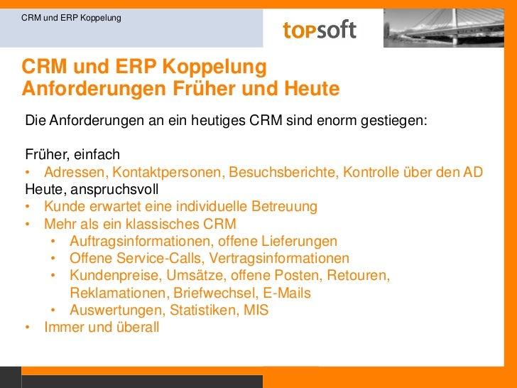 """CRM und ERP KoppelungAusgangslage<br />CRM und ERP Koppelung<br />Ein Sprichwort sagt: """"Neue Kunden gewinnen ist einfacher..."""