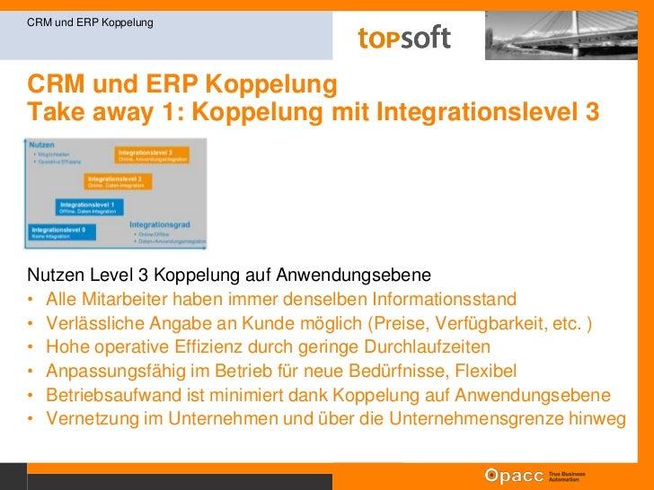 CRM und ERP KoppelungErfolgsfaktor<br />CRM und ERP Koppelung<br />Erfolgreiches CRM dank online Daten und Funktionen aus ...