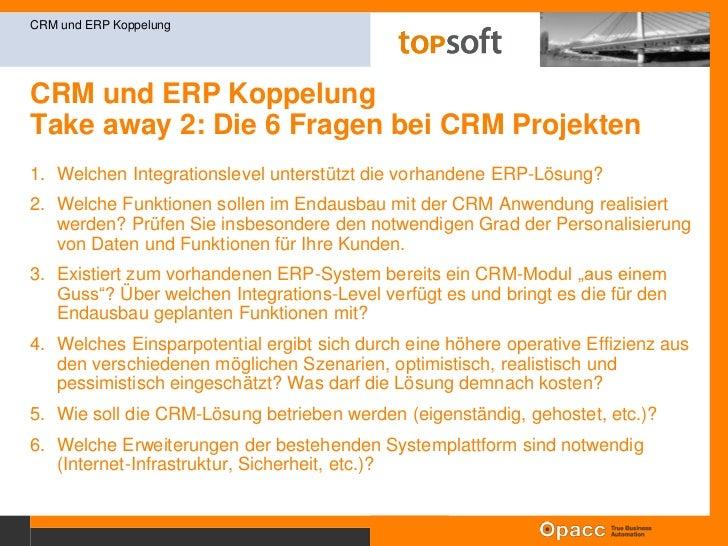 CRM und ERP KoppelungIntegrationslevel 0 – 3 <br />CRM und ERP Koppelung<br />Der Integrationsgrad entscheidet über den Nu...