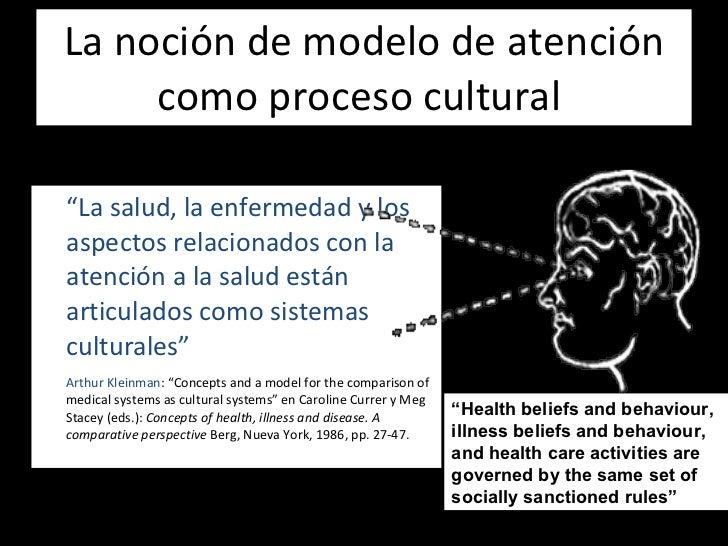"""La noción de modelo de atención como proceso cultural  <ul><li>"""" La salud, la enfermedad y los aspectos relacionados con l..."""