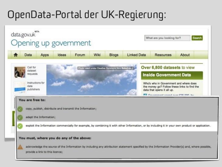 OpenData-Portal der UK-Regierung: