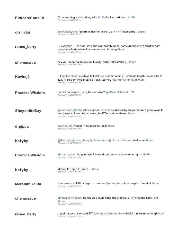 2011 05 11 hpm tweetchat transcript