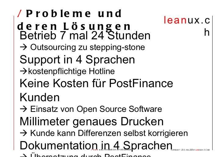 /  Probleme und deren Lösungen Betrieb 7 mal 24 Stunden    Outsourcing zu stepping-stone Support in 4 Sprachen  kostenpf...