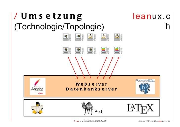 /  Umsetzung  (Technologie/Topologie)  Webserver Datenbankserver Perl