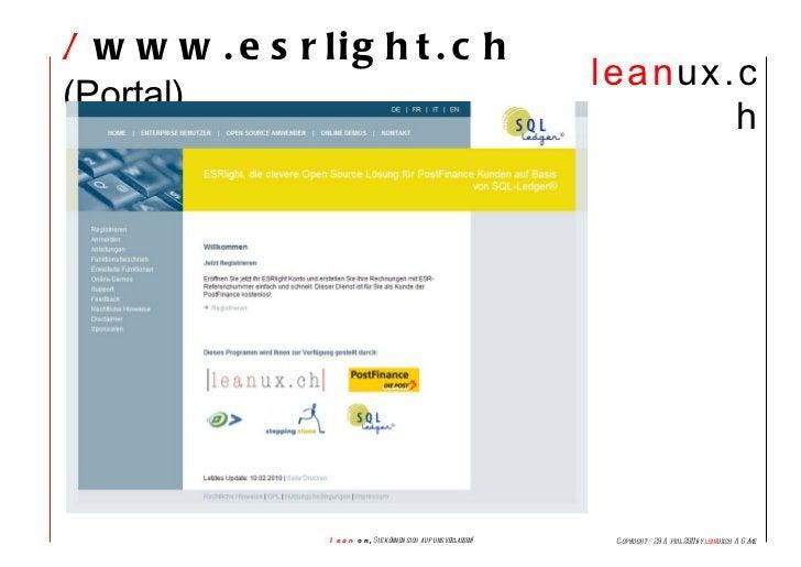 /  www.esrlight.ch  (Portal)
