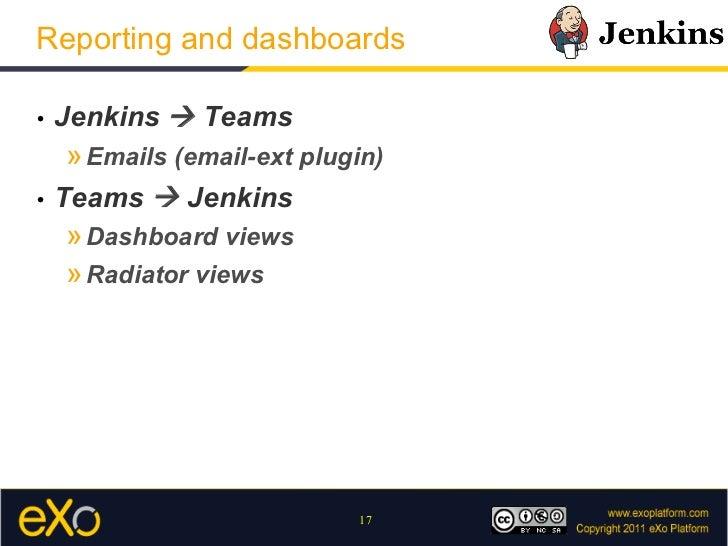 Jenkins User Meetup - eXo usages of Jenkins