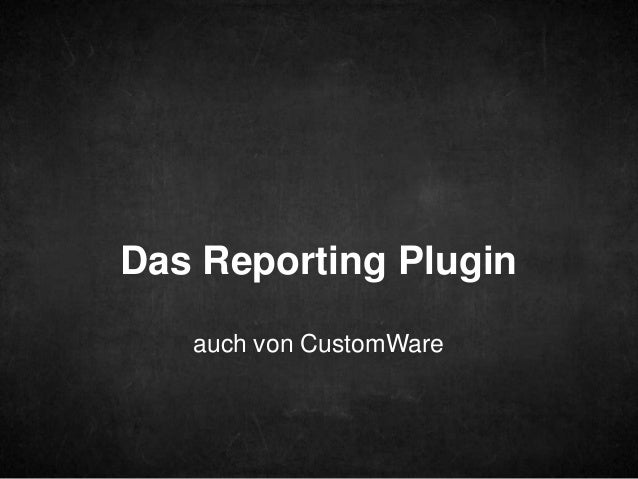 Was kann man damit machen? Double-click to enter text  Reporting