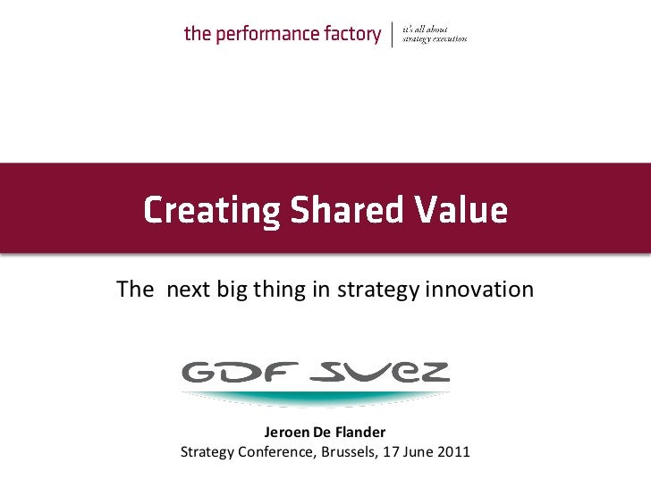 The next big thing in strategy innovation                  Jeroen De Flander      Strategy Conference, Brussels, 17 June 2...