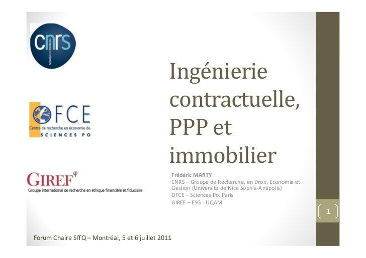 Ingénierie                                              contractuelle,                                              PPP et...