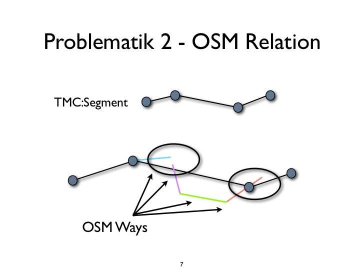Problematik 2 - OSM Relation TMC:Segment     OSM Ways                7