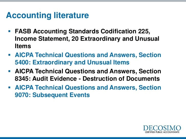 Accounting Standards Codification