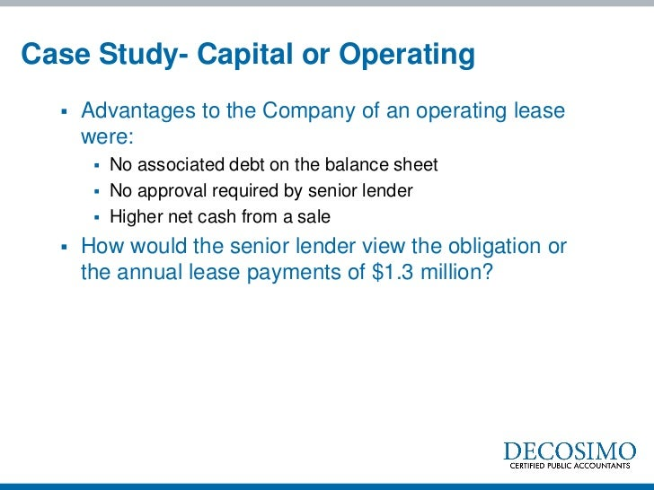 converting from capital lease to operating lease Companies will be required to convert their operating leases to capital leases capitalizing lease payments i counted to convert operating lease payments.