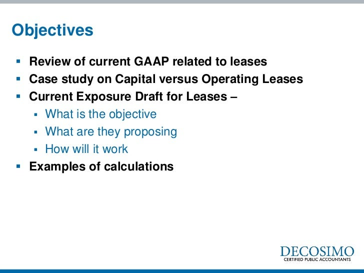 Effects Of Capital Vs. Operating Leases