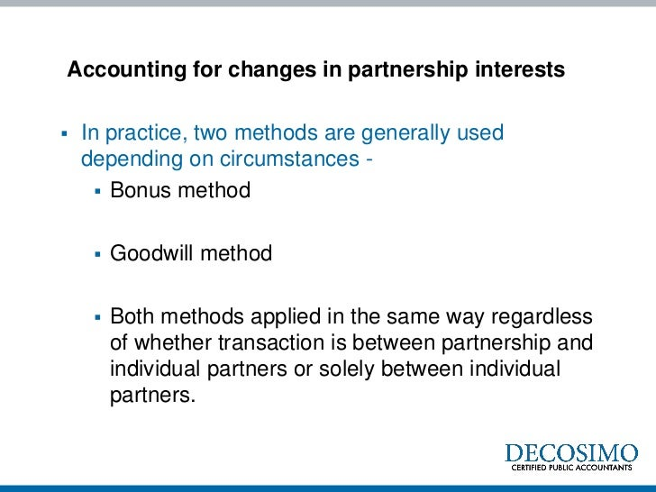 Issues in Partnership Accounting