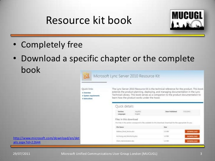 Lync/Industry Update and Useful Resources Slide 3