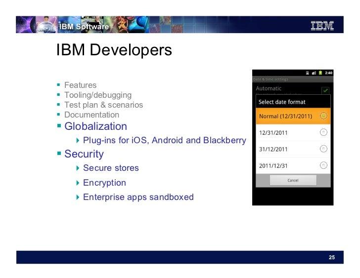 IBM Developers   Features   Tooling/debugging   Test plan & scenarios   Documentation Globalization       Plug...