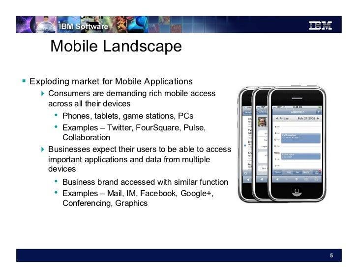 Mobile Landscape Exploding market for Mobile Applications     Consumers are demanding rich mobile access       across ...