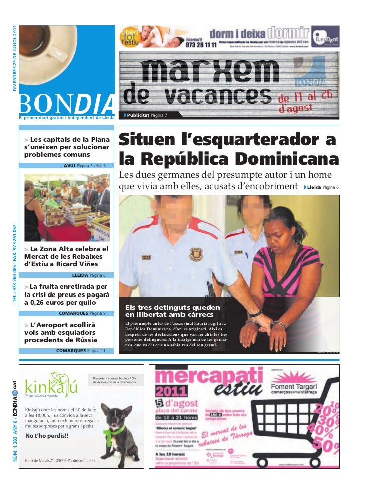 divendres 29 de juliol 2011                                                                              Publicitat Pàgina...