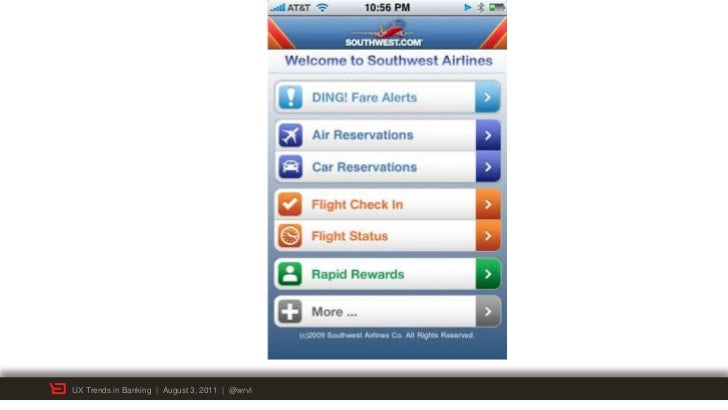 UX Trends in Banking | August 3, 2011 | @wrvl
