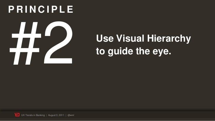 PRINCIPLE#2                                               Use Visual Hierarchy                                            ...