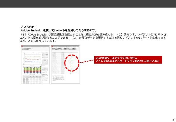 というのも…Adobe Indesignを使ってレポートを作成してたりするので。(1)Adobe Indesignは画像解像度を落とすことなく複数PDFも読み込める、(2)読みやすいレゕウトにPDFやXLS、コメント文章を並び替えることができ...