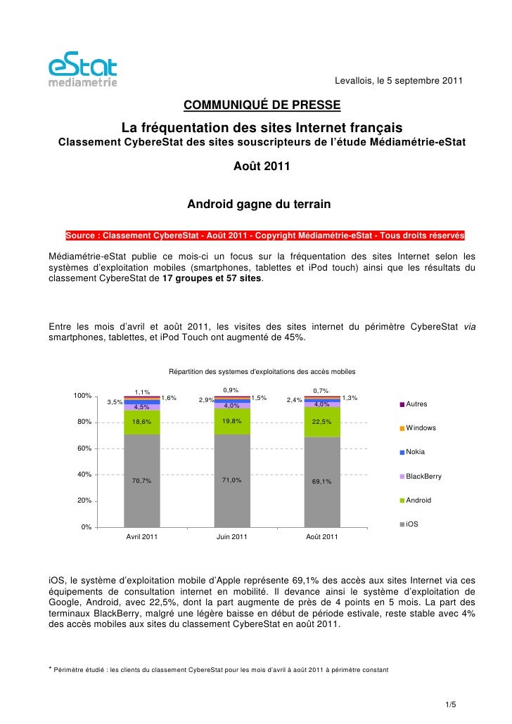 Levallois, le 5 septembre 2011                                              COMMUNIQUÉ DE PRESSE                       La ...