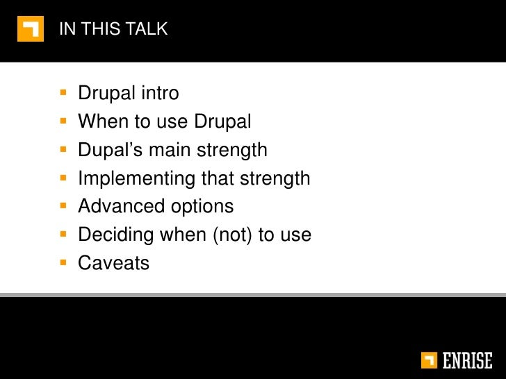Harness the real power of drupal Slide 3